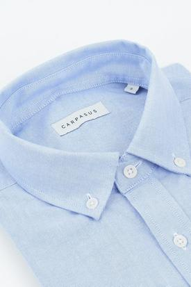 CARPASUS Organic Cotton Men's Oxford Shirt | Blue