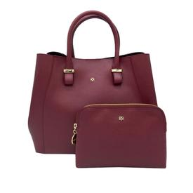 GUNAS New York Vegan Leather Jane Satchel | Burgundy