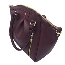GUNAS New York Vegan Leather Madison PE Tote | Burgundy