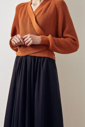 Kowtow Composure Cardigan | Rust