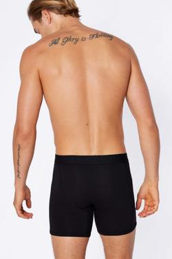 Mighty Good Undies Men's Organic Cotton Trunks - Black | Ecoture