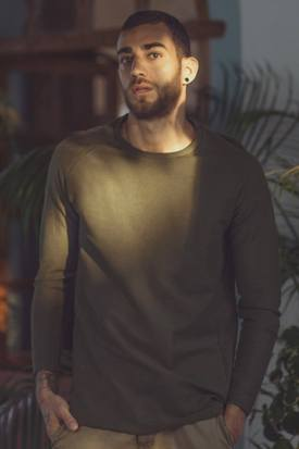 No Nasties Men's Organic Cotton Raglan Longline Tee | Naos