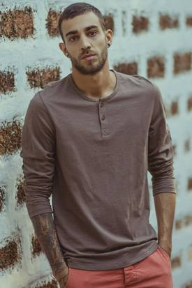 No Nasties Men's Organic Cotton Slub Henley | Antlia