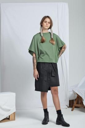 ReCreate Organic Cotton Arcade Top | Khaki