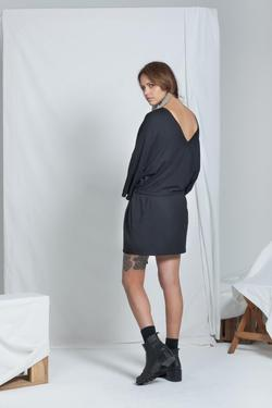 ReCreate Organic Cotton Dual Reversible Dress - Black | Ecoture