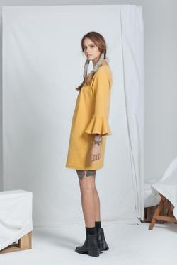ReCreate Organic Cotton Muse Dress - Ochre | Ecoture