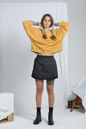 ReCreate Organic Cotton Signal Crew | Ochre