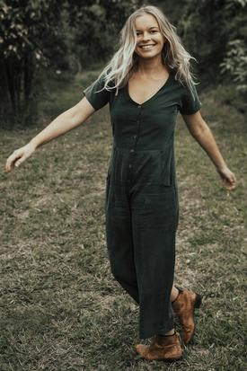 Tasi Travels Vagabond Jumpsuit | Moss