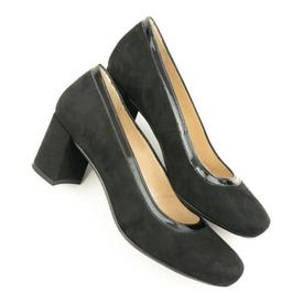 Will's Vegan Shoes Block Heels | Black 'Suede'