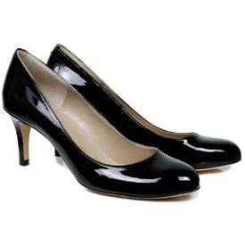 Will's Vegan Shoes City Courts | Patent Black