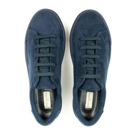 Will's Vegan Shoes Men's 'Suede' Sneakers | Dark Blue