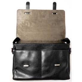 Will's Vegan Shoes Messenger Bag | Black