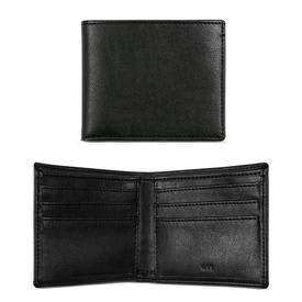 Will's Vegan Shoes Men's Slim Billfold Wallet | Black