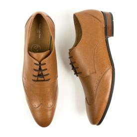 Will's Vegan Shoes Slim Sole Brogues | Tan