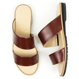 Will's Vegan Shoes Women's Two-Strap Sandals | Brown