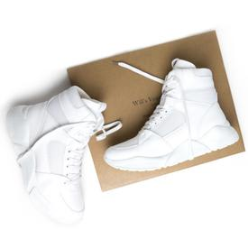 Will's Vegan Shoes Men's Chicago High-Top Sneakers | White