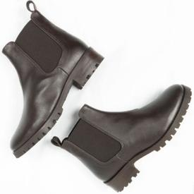 Will's Vegan Shoes Deep Tread Chelsea Boots | Dark Brown