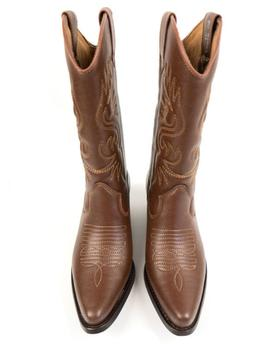 Will's Vegan Shoes Western Boots | Chestnut