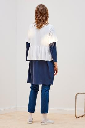 Kowtow Building Block Pleated Tee | White