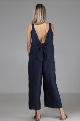 Indecisive Surplus Fabric Sadie Jumpsuit | Navy