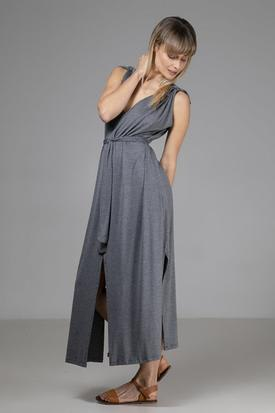 Indecisive Organic Bamboo Vicky Dress | Grey