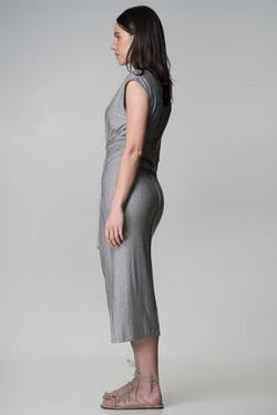Indecisive Surplus Fabric Xavier Dress - Grey | Ecoture