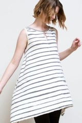 Alabama Chanin Organic Cotton Edison Tunic | Faded Stripe