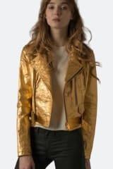 Altiir Women's Piñatex Neo-Classic Biker Jacket | Gold