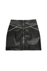Delikate Rayne Vegan Leather Mini Skirt | Black