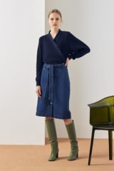 Kowtow Button-Up Skirt | Classic Denim