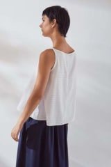 Kowtow Organic Cotton Cleo Top | White Check