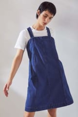 Kowtow Organic Cotton Frame Dress | Mid Blue Denim