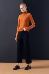 Kowtow Organic Cotton Knit Roll Neck Top | Rust