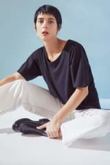 Kowtow Organic Cotton Loose Fit Tee | Black