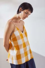 Kowtow Organic Cotton Stencil Top | Daisy Check