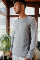 No Nasties Men's Organic Cotton Raglan Long Sweater | Hopkins