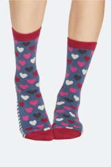 Thought Bamboo & Organic Cotton Hearts & Stripe Socks | 3 Pack