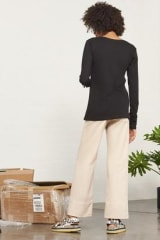 Kowtow Building Block Long Sleeve Top | Black