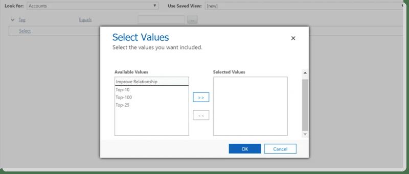 Multi select option set advanced find