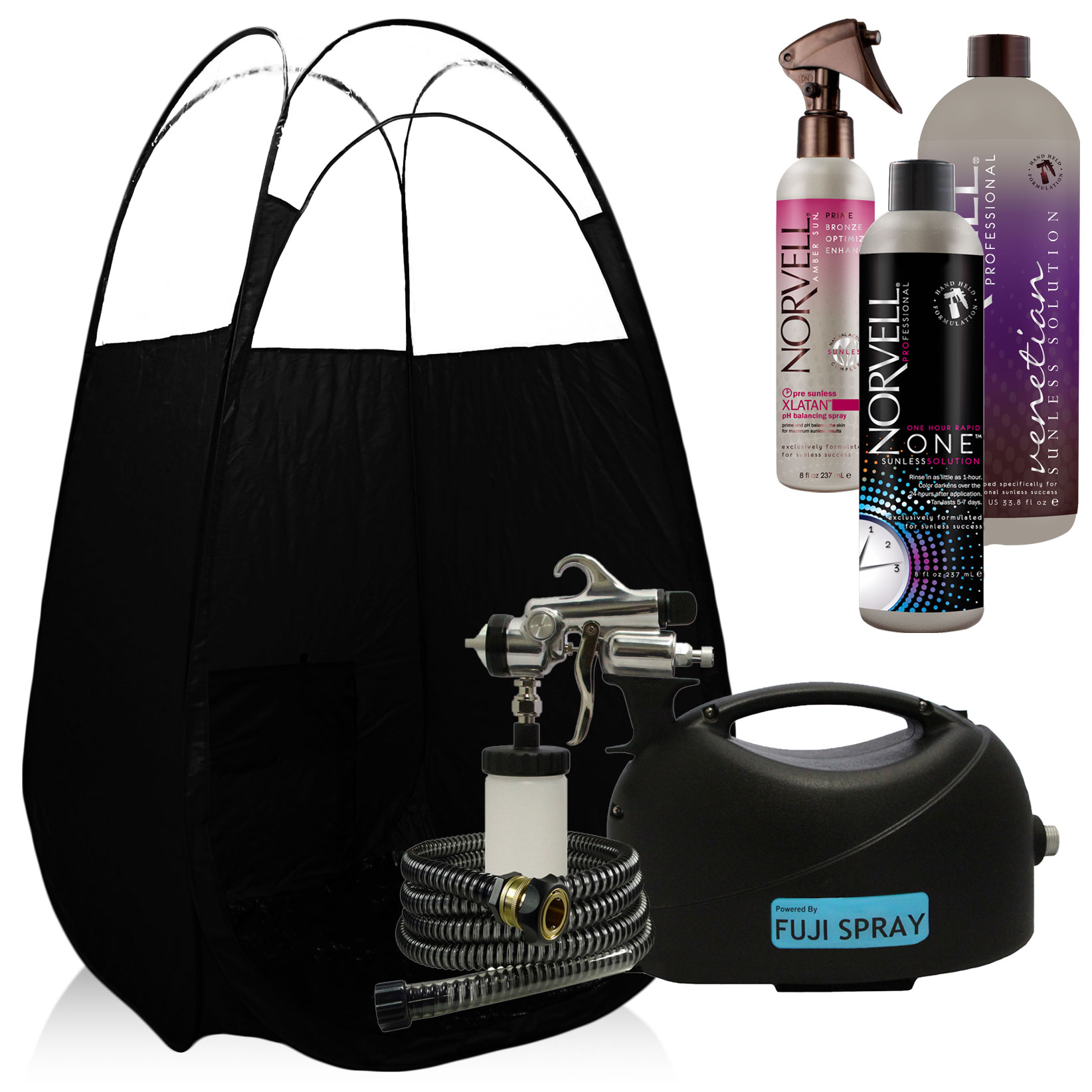 Fuji Hvlp Tan Glo Spray Tan System With Norvell Tanning