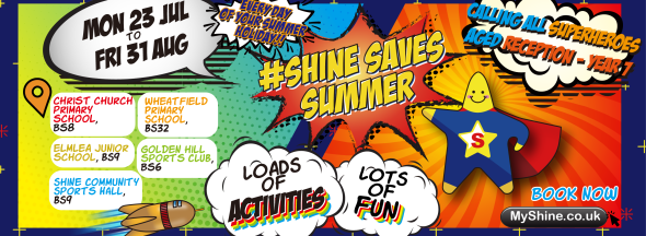 Shine Saves Summer with Holiday Clubs every day!