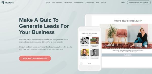 Online Quiz Maker - Interact