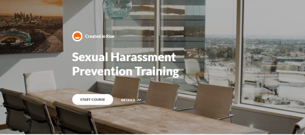 Sexual Harassment Training Course - Rise