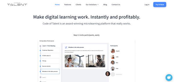 Online Course Creation Software - Code of Talent