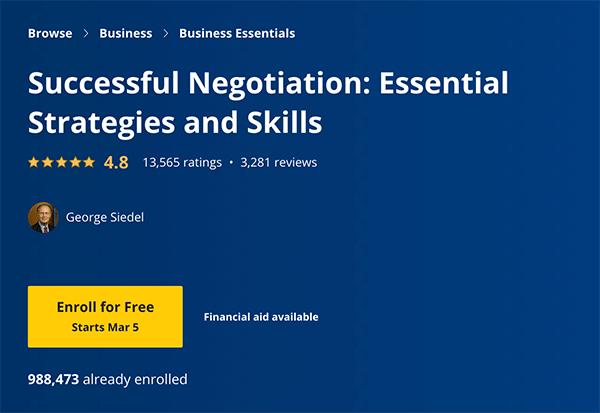 Sales Course - Negotiation