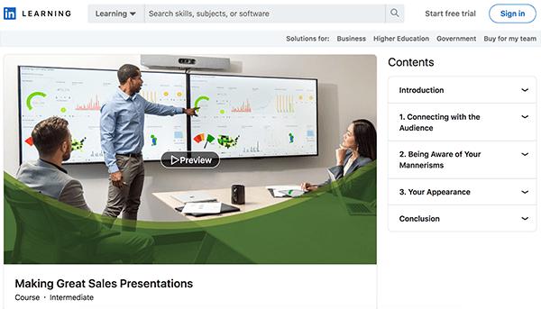 Sales Course - Presentations