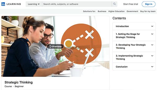 Sales Course - Strategic Thinking