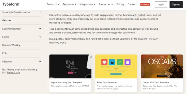 Online Quiz Creator - Typeform