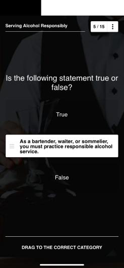 EdApp Bar Training Course – Serving Alcohol Safely