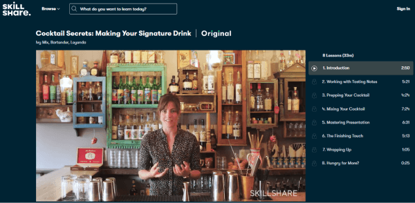 Skillshare Bar Training Course - Making Your Signature Drink
